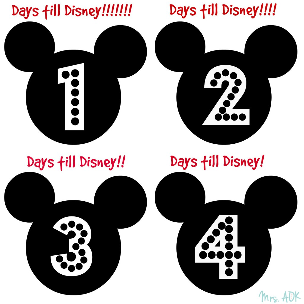 Printable Countdown To Disney printable